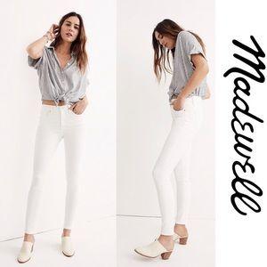 Madewell White High Riser Skinny Jeans